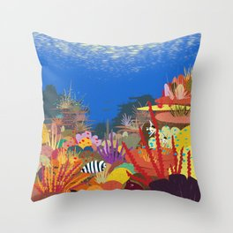 The Coral Reef That Once Was... Throw Pillow