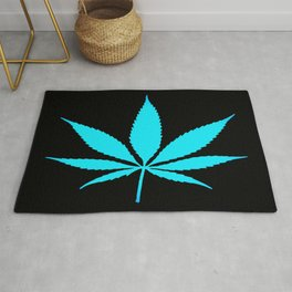 Weed : High Time Blue Rug