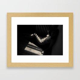 Radiating Shadows Framed Art Print
