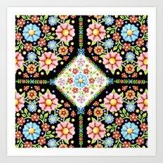 Millefiori Tile Pattern Art Print