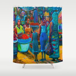 Market Day with My Grandmother Shower Curtain