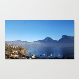 Lakeside Switzerland Canvas Print
