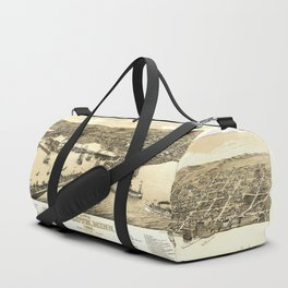 Aerial View of Duluth, Minnesota (1883) Duffle Bag