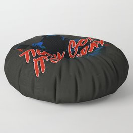 Thank God it's Friday in blue Floor Pillow