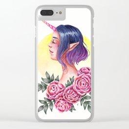 Beloved Unicorn Clear iPhone Case