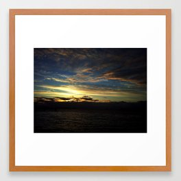 Morning Clouds Framed Art Print