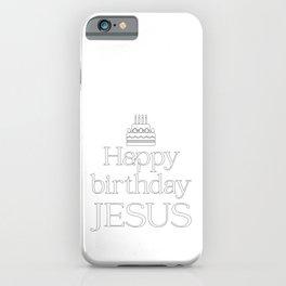 Christian Christmas Design - Happy Birthday Jesus iPhone Case