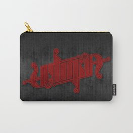 Uptopia Ambigram Red Carry-All Pouch