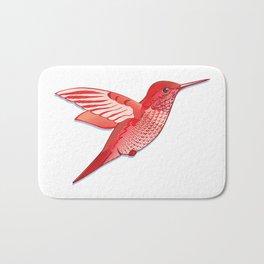 Red hummingbird colibri. Bath Mat