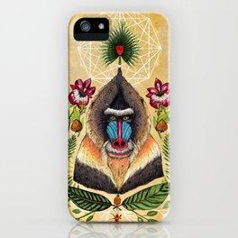 Majestic Mandrill iPhone Case