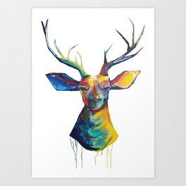 Hello there, deer Art Print