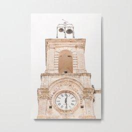 415. What italian time is it ? Puglia, Italy Metal Print