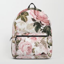 Vintage & Shabby Chic - Sepia Pink Roses  Backpack