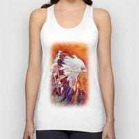 native american Tank Tops featuring Native American by LiliyaChernaya