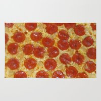 pizza Area & Throw Rugs featuring Pizza by Dani Mininancy