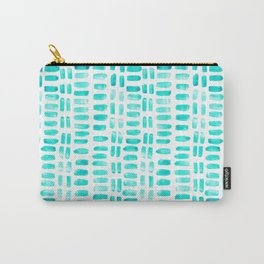 Abstract rectangles - turquoise Carry-All Pouch