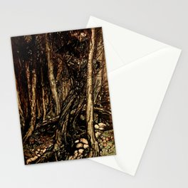 Arthur Rackham - Fouqué - Undine (1909) - A fearsome forest right perilous to traverse Stationery Cards