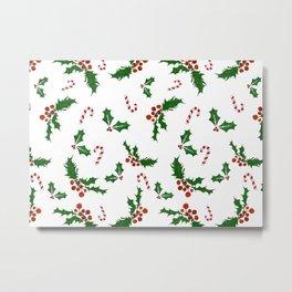 Christmas Holly Metal Print