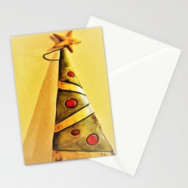 minimal Christmas tree ornament Stationery Cards