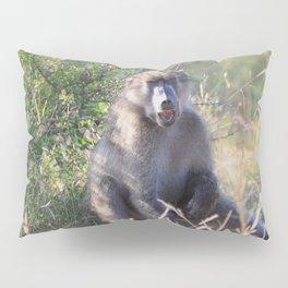 """Hey, whassup,"" said the Baboon Pillow Sham"