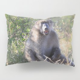 """Hey, whassup,"" said the Baboon Pillow Sham"