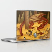 smaug Laptop & iPad Skins featuring Smaug, the last dragon by danielasynner