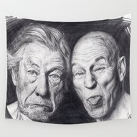 patrick Wall Tapestries featuring Patrick Stewart & Ian McKellen by Mr Sarah Lou