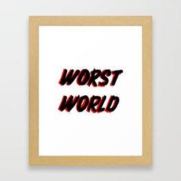 World Issues Framed Art Print