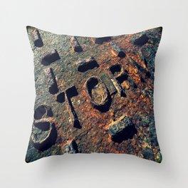 Storm Drain Throw Pillow