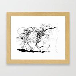 negumo the dangerous rabbit.... Framed Art Print