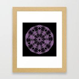 Mandala purple and black Framed Art Print