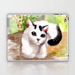 Cat in Garden Laptop & iPad Skin