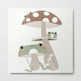 Mushroom Frog Metal Print