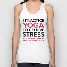 Yoga Pants Funny Quote Unisex Tank Top