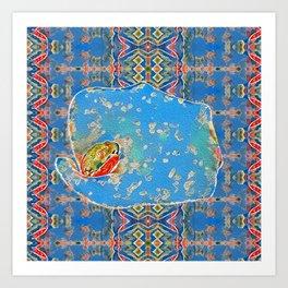 Portrait of a Mediterranean Frog Prince Art Print