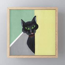 Mom, I am Hungry. Framed Mini Art Print