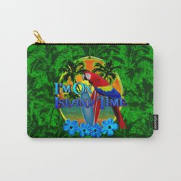 Island Time Surfing Palm Trees Carry-All Pouch