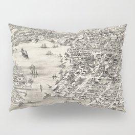 Vintage Map of St. John New Brunswick (1882) Pillow Sham