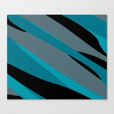 Turquoise gray and black camo abstract Canvas Print