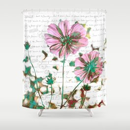 The Flower of Life - Free Hand Calligraphy! Shower Curtain