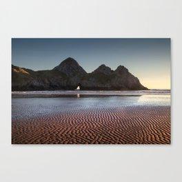 Three Cliffs Bay Gower peninsula Canvas Print