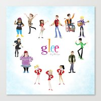 glee Canvas Prints featuring Glee: Season 2 by Tunasammiches