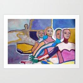 Ballerinas performing Art Print