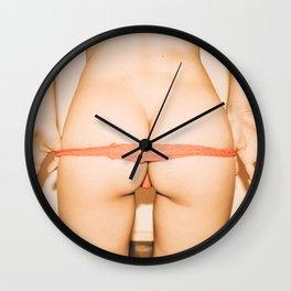 Red Thong Wall Clock