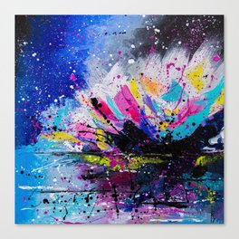 Night Lotus Canvas Print