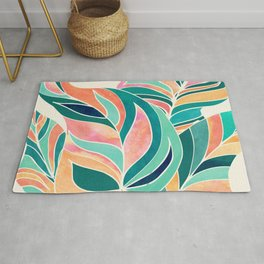Rise Up / Tropical Leaf Illustration Rug