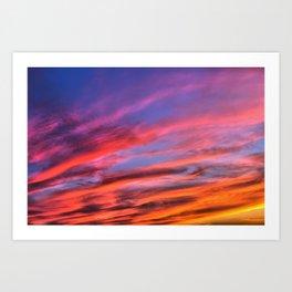 colorful clouds x Art Print