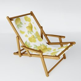 Summer Lemon Twist #1 #tropical #fruit #decor #art #society6 Sling Chair