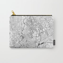 Washington D.C. White Map Carry-All Pouch