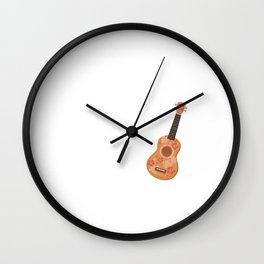 Hard to Frown When Ukulele Music Goin' Down T-Shirt Wall Clock